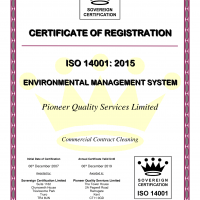PQS - ISO14001 Certificate (2015)-1 cleaning - PQS ISO14001 Certificate 2015 1 200x200 - Pioneer Quality Services – Homepage