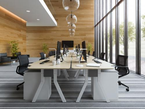 Interior modern open space office 3 D illustration  - interior modern open space office 3d illustration NCL7H35 - Gallery